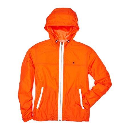 Penguin New Orange Mens Size Xl Nylon Ratner Lite Full Zip Jacket