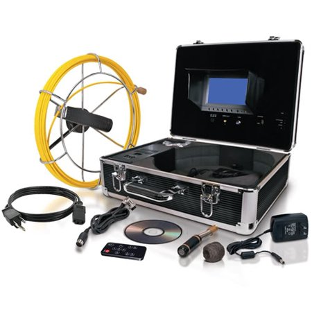 Video Snake SWJ-3188D 65' Pipe Wall Sewer Inspection Color LED Camera System