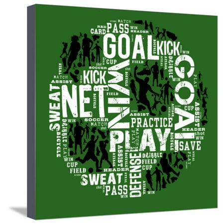 Soccer (Green) Stretched Canvas Print Wall Art By Jim Baldwin (Soccer Star Canvas Art)