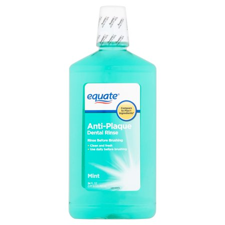 (2 pack) Equate Anti-Plaque Mint Dental Rinse, 24
