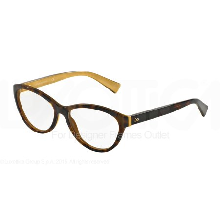 df7a3c83 DOLCE & GABBANA Eyeglasses DG 3232 2956 Havana On Gold 55MM - Walmart.com