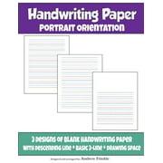 Handwriting Paper : Portrait Orientation