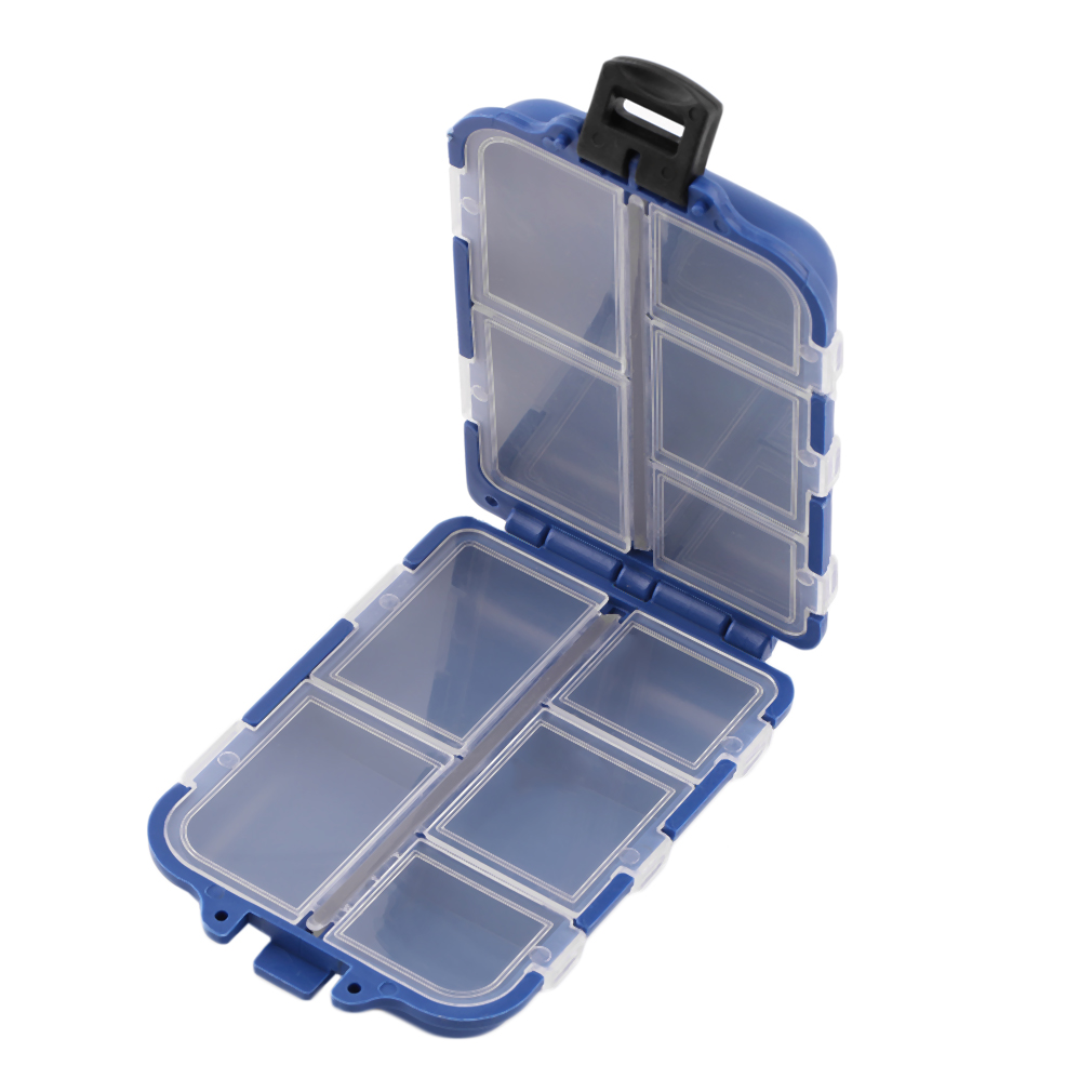 10 Compartments Storage Case Box Fly Fishing Lure Spoon Hook Bait Tackle Box by