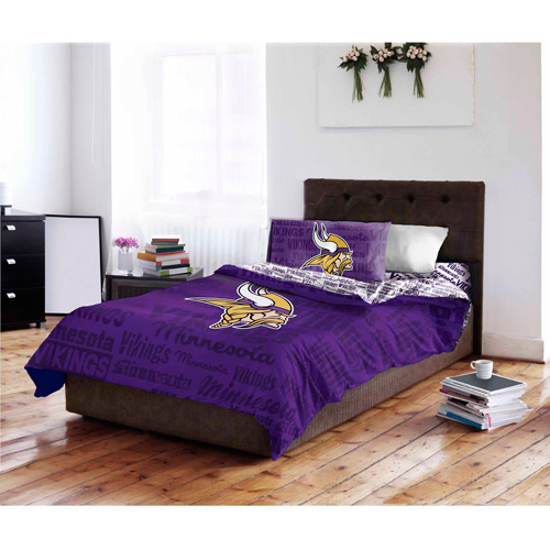 NFL Minnesota Vikings Bed in a Bag Complete Bedding Set