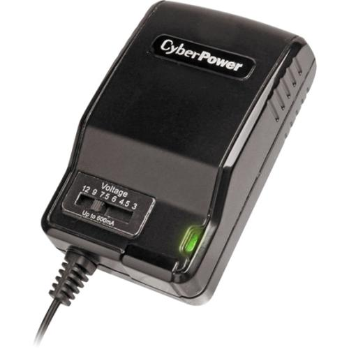 CyberPower CPUAC600 Universal Power Adapter 3-12V 600mA and AC Power Plug - 3 V DC, 4.5 V DC, 6 V DC, 7.5 V DC, 9 V DC,