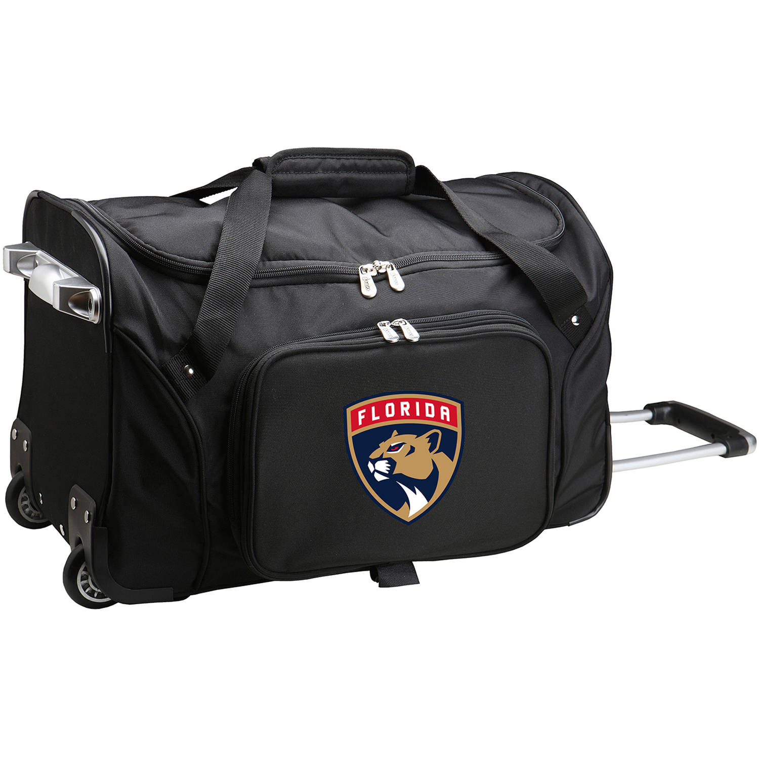 """Denco NHL 22"""" Rolling Duffel, Florida Panthers by Mojo Licensing"""