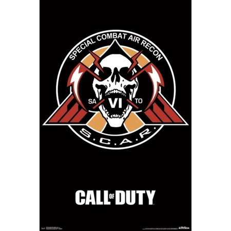 Call Of Duty Infinite Warfare Scar Video Gaming Poster 22X34