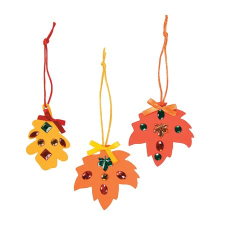 IN-48/3900 Rhinestone Fall Leaf Craft Kit Makes 12 (Fall Craft Projects)