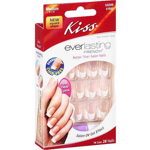 Kiss Everlasting Color Square Nail Kit - Medium