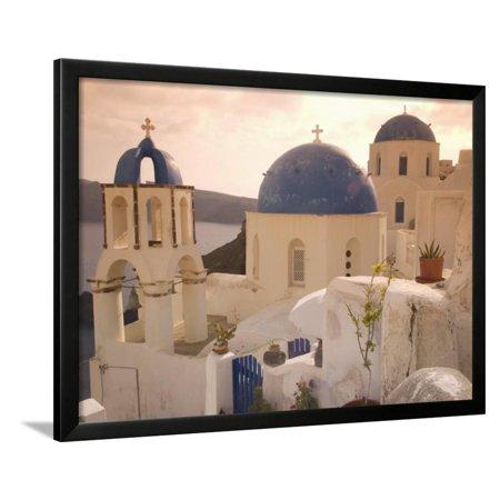 Oia, Santorini, Cyclades, Greek Islands, Greece, Europe Framed Print Wall Art By Angelo