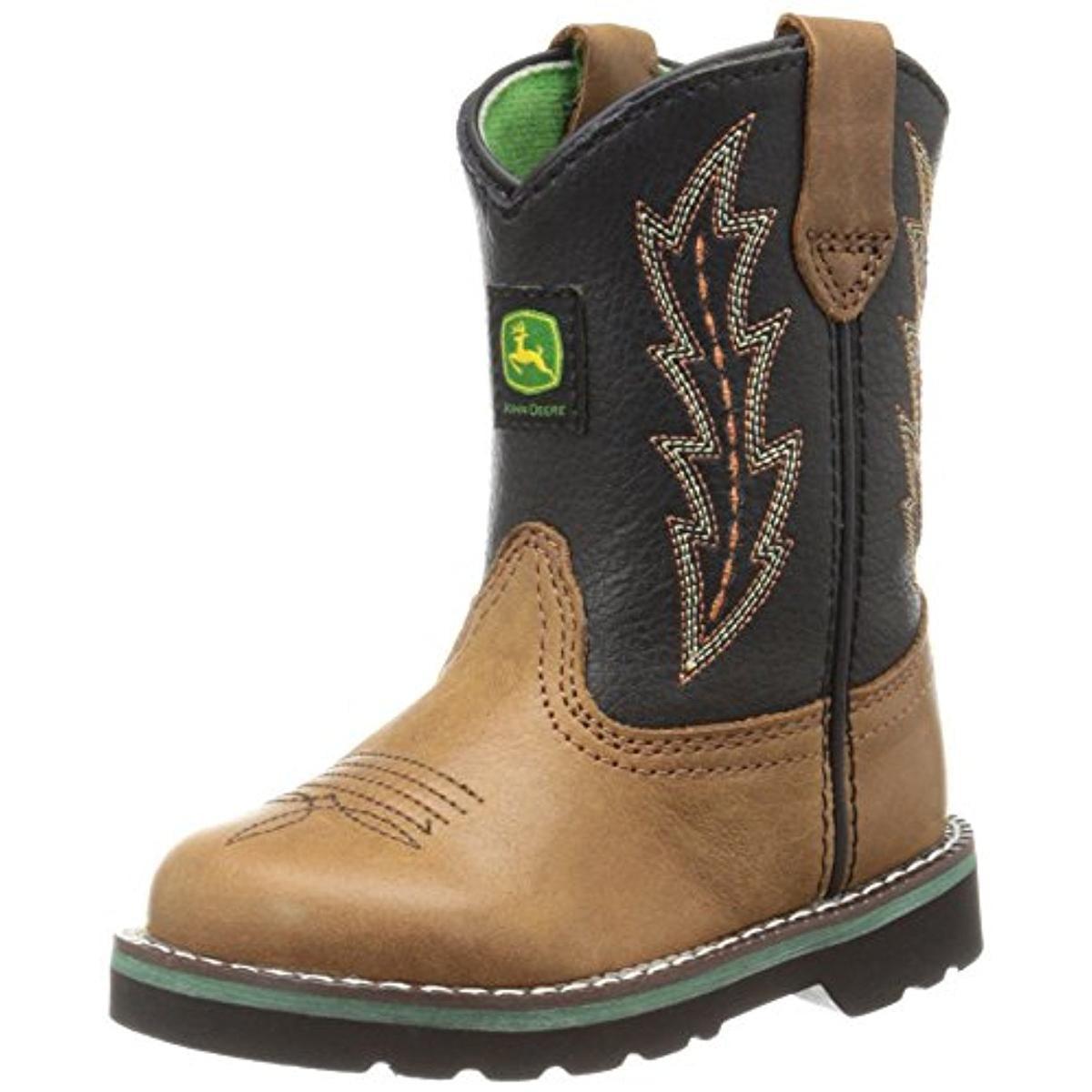 John Deere Leather Infant Boys Cowboy, Western Boots by John Deere
