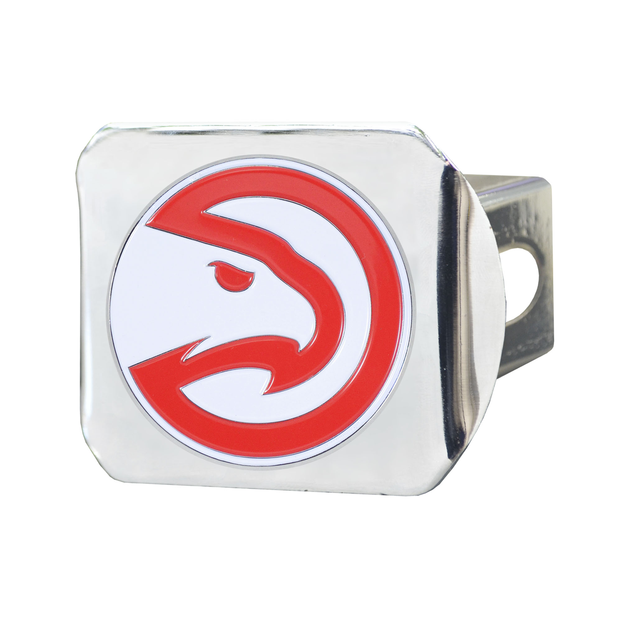 NBA Atlanta Hawks Color Class III Hitch - Chrome Hitch Cover Auto Accessory