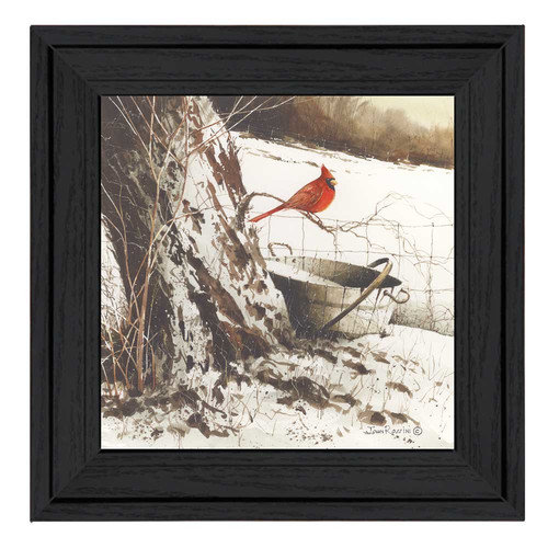Trendy Decor 4U Country Cardinal by John Rossini Framed Painting Print