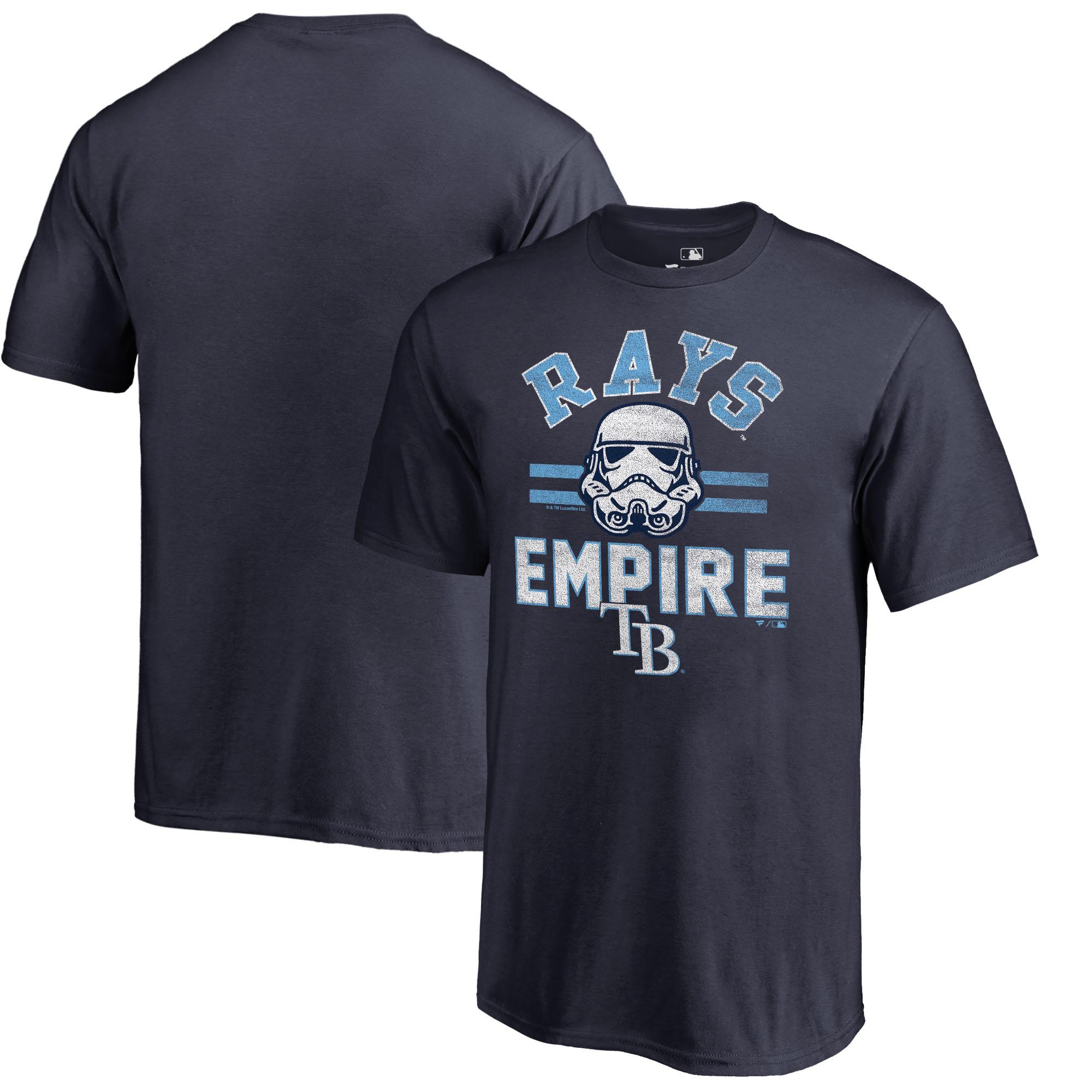 Tampa Bay Rays Fanatics Branded Youth MLB Star Wars Empire T-Shirt - Navy