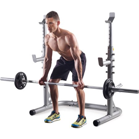 5d0845d97dcf Gold s Gym XRS 20 Olympic Workout Rack with Safety Spotters - Walmart.com