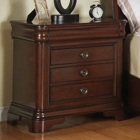 Picket House Furnishings Cameron 3 Drawer Nightstand - Traditional Cherry