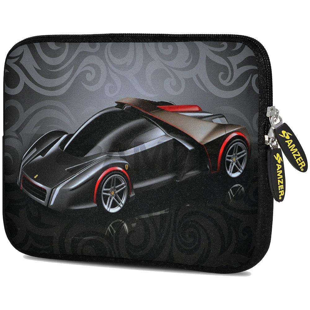 Universal 10.5 Inch Soft Neoprene Designer Sleeve Case Pouch for 10.5 Inch Tablet, eBook, Netbook - Racer Swirl