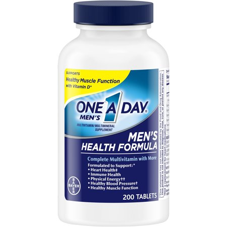One A Day Men's Multivitamin, Supplement with Vitamins A, C, E, B1, B2, B6, B12,Calcium and Vitamin D, 200