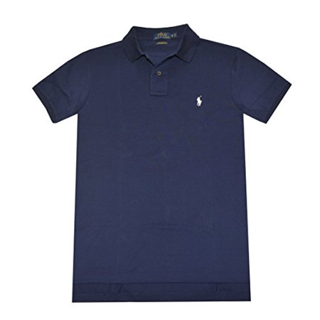 Polo Ralph Lauren Men Custom Fit Pima Stretch Mesh Polo Shirt  S  Navy