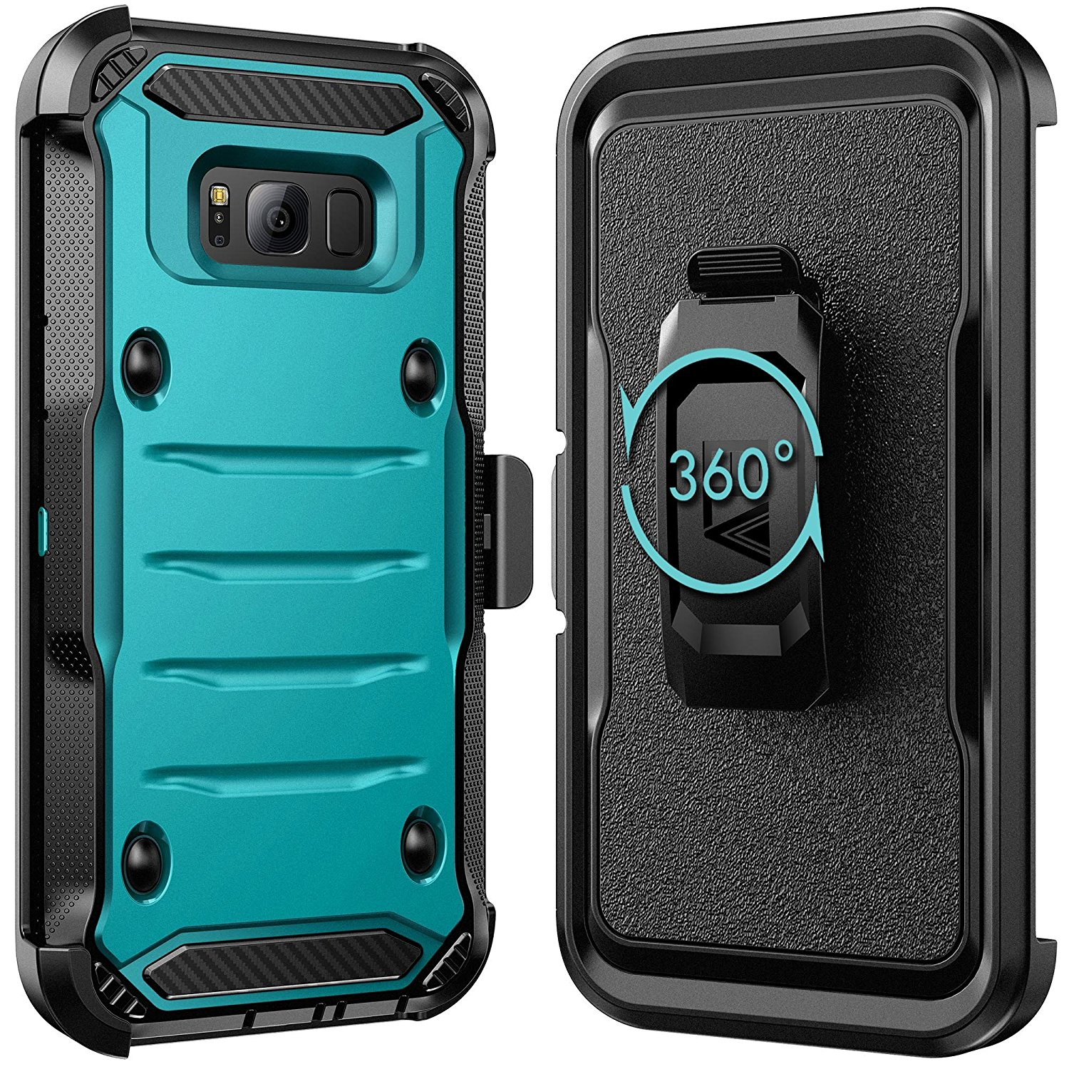 Galaxy S8 Plus Case E Lv Belt Swivel Clip Kickstand Dual Layer Asoftcase Armor Holster Defender Full Body Protective Cover For Samsung Red