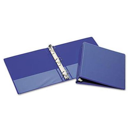 AbilityOne 5194382 7510015194382 11 x 8.5 in. Round Ring Binder, Blue - image 1 of 1