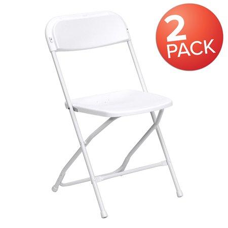 Marvelous 2 Pack 650 Lb Capacity Premium White Plastic Folding Chair Machost Co Dining Chair Design Ideas Machostcouk