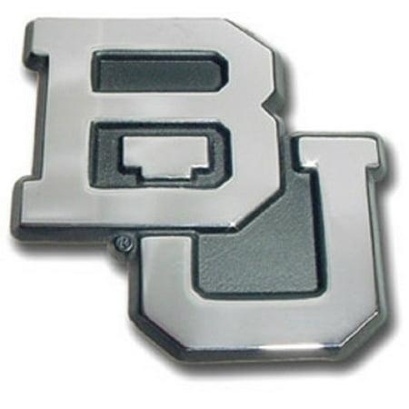 Baylor Bears Chrome Logo Premium Metal Auto Emblem Decal
