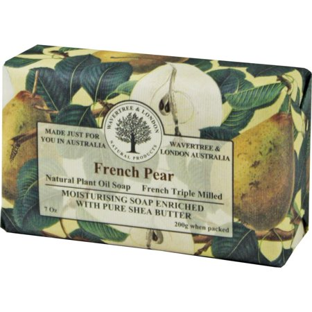 - Wavertree & London French Pear luxury soap (1 bar), •Size:7oz, wrapped with embossed paper By Simple Scents Australia From USA