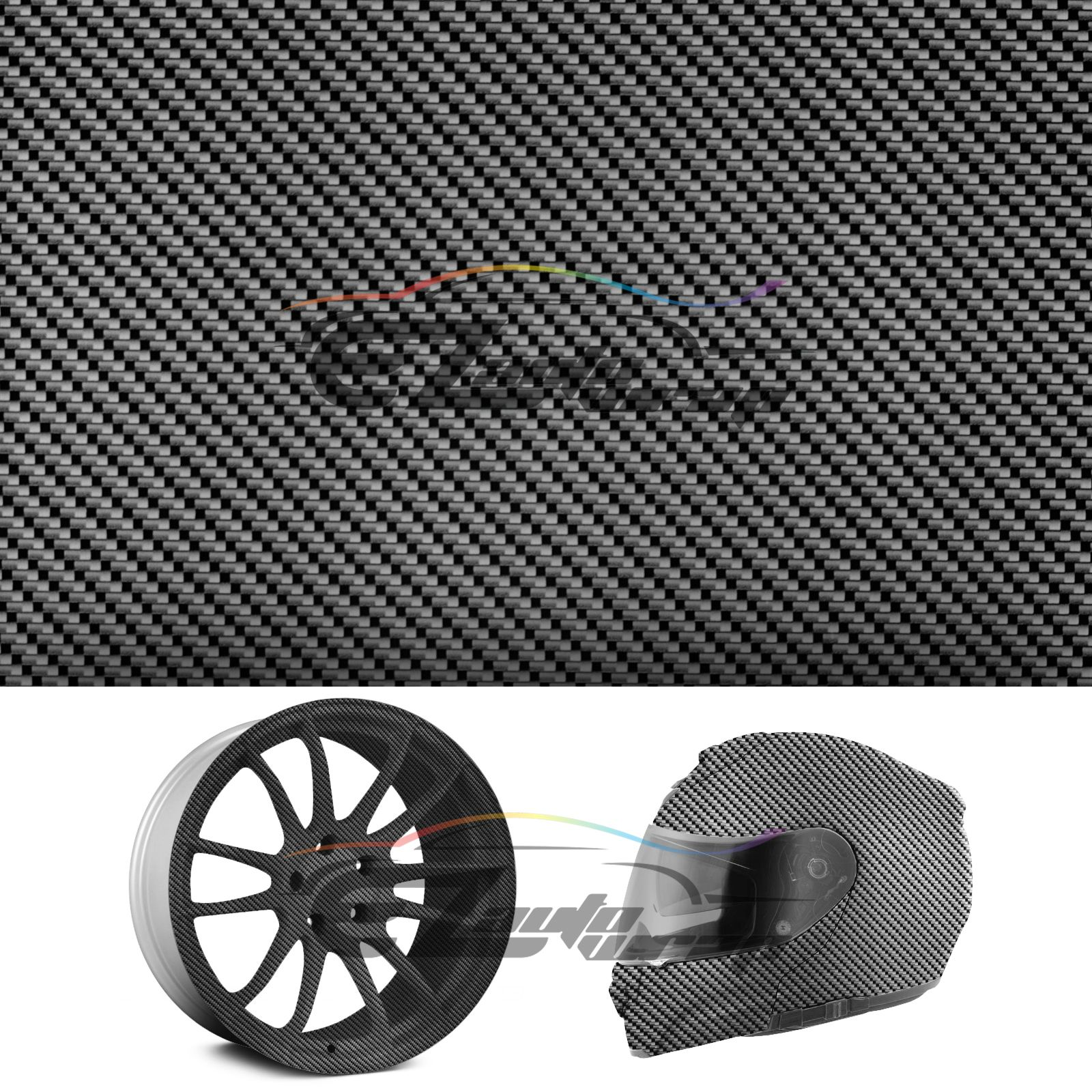 Hydrographic Film Hydro Dipping Dip Water Transfer Black Carbon Fiber #6