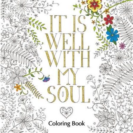 It Is Well with My Soul Adult Coloring Book - Scarecrow Halloween Coloring Pages