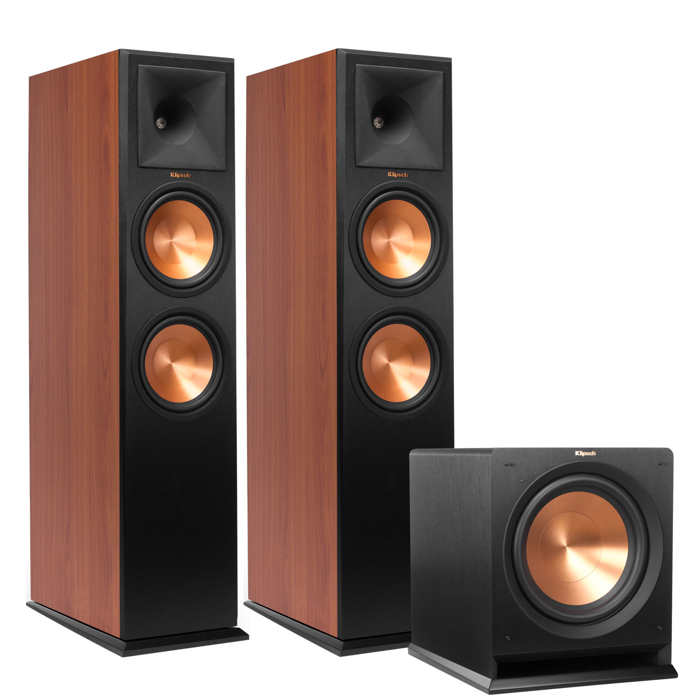 """Klipsch RP-280F Reference Premiere Floorstanding Speakers with R-112SW 12"""" Reference Series Powered Subwoofer by Klipsch"""