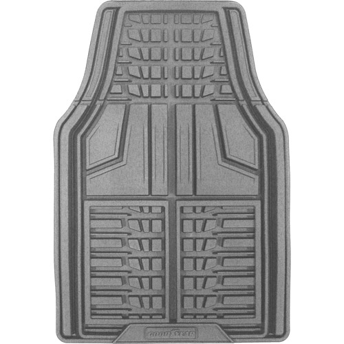 Goodyear 2pc Premium Rubber Floor Mats, Gray
