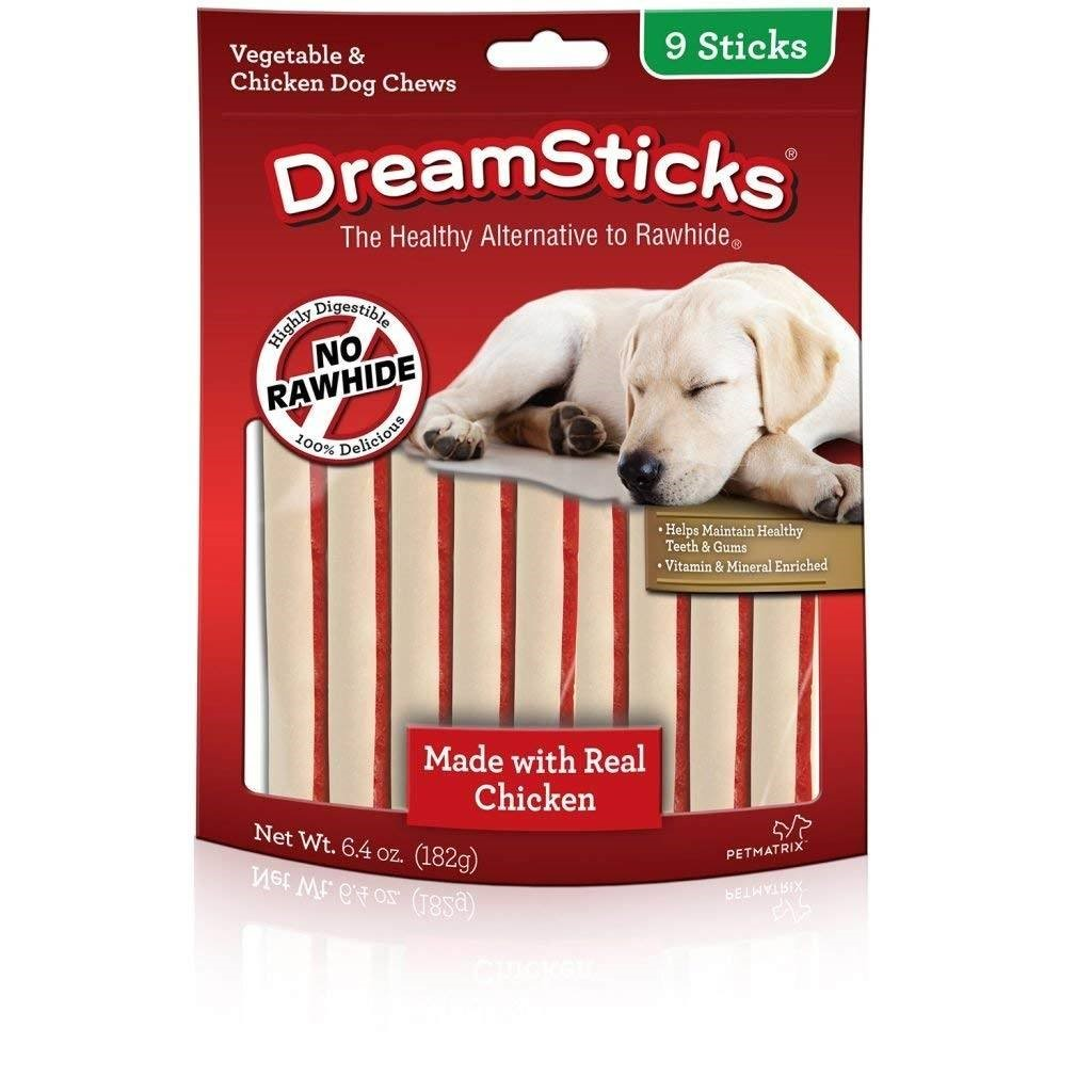 DreamBone DreamSticks With Real Chicken 9 Count, Rawhide-Free