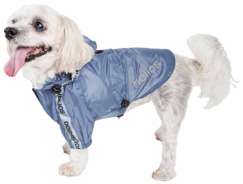 Dog Helios ® 'Torrential Shield' Waterproof Multi-Adjustable Pet Dog Windbreaker Raincoat