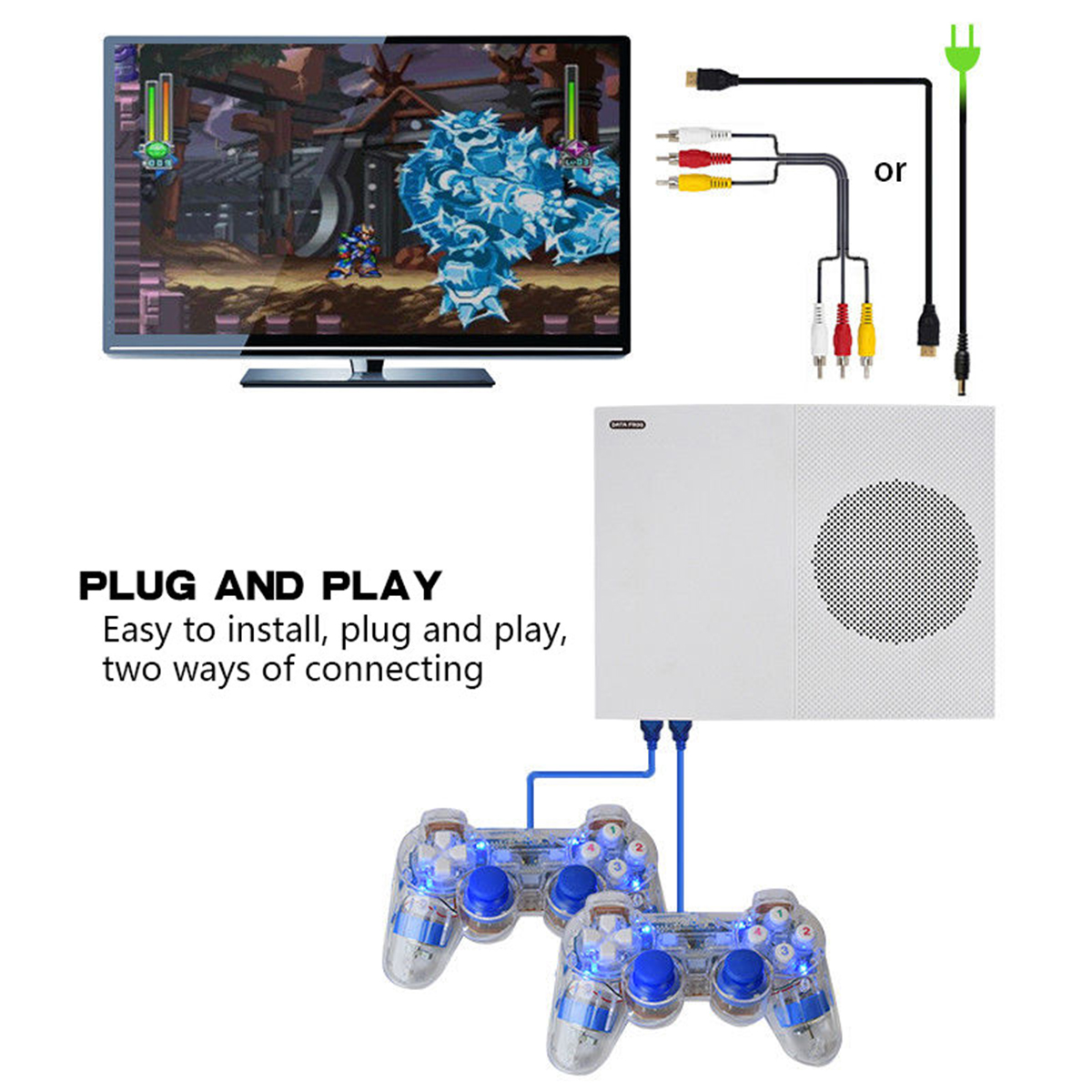 Retro Game Console Built-in 600 Classic Games TV Movie  O...