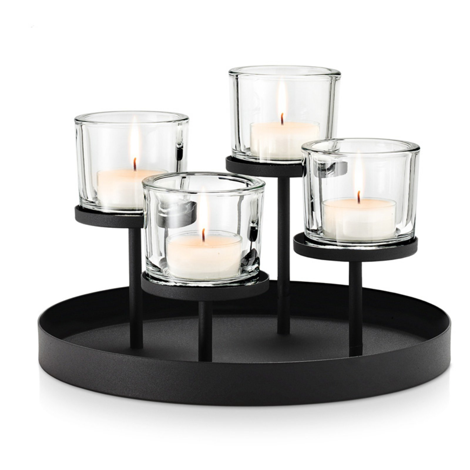 Blomus Deco Tealight Candle Holder with Round Tray Base