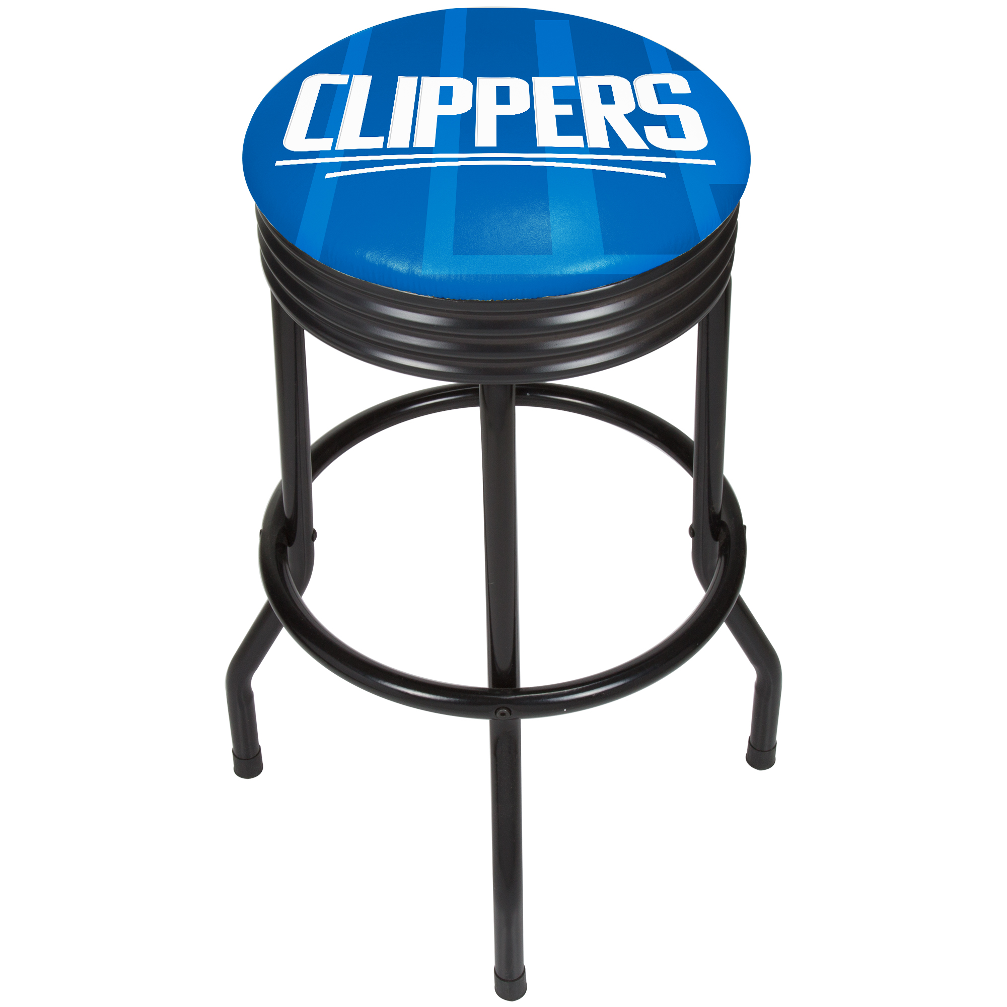 NBA Black Ribbed Bar Stool - Fade - Los Angeles Clippers