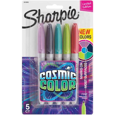 5pk Permanent Marker Fine Tip Multicolor - Sharpie