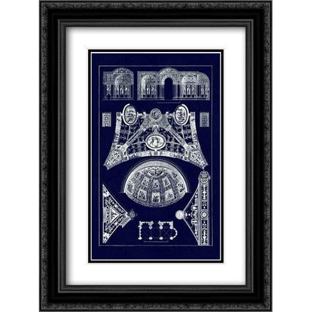 (Cross Vaults of the Renaissance (Blueprint) 2x Matted 18x24 Black Ornate Framed Art Print by Buhlmann, J.)