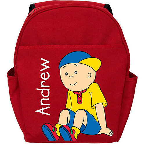 Personalized Caillou Let's Play Red Backpack