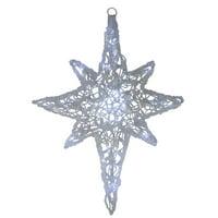 """24"""" LED Lighted White Twinkle Hanging Star of Bethlehem Christmas Decoration"""