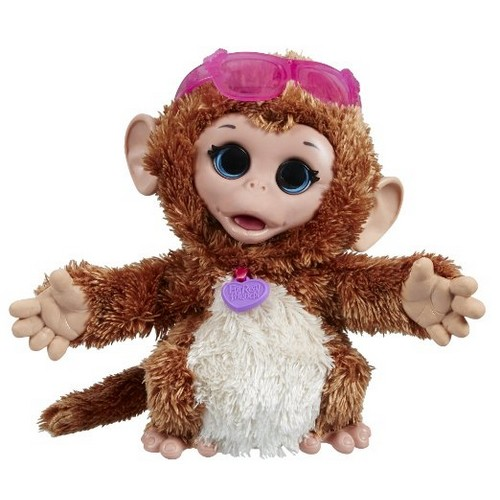 FurReal Friends Happy to See Me Pets Baby Cuddles, My Giggly Monkey Pet