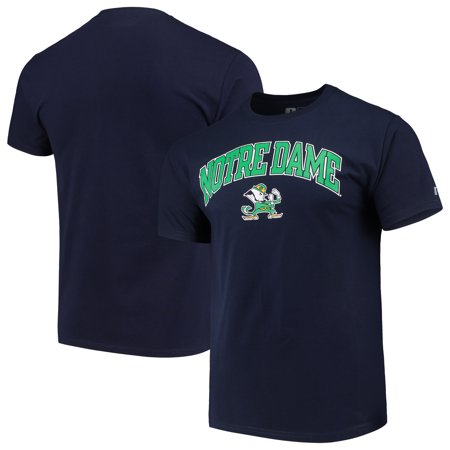 Men's Russell Navy Notre Dame Fighting Irish Crew Core Print T-Shirt - Notre Dame Party Supplies