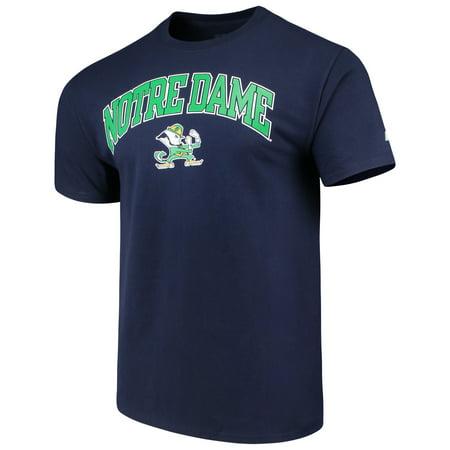 Men's Russell Navy Notre Dame Fighting Irish Crew Core Print T-Shirt - Halloween Tree Notre Dame