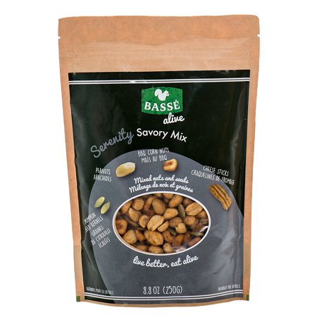 Basse Alive Serenity Savory Mix (8.8oz.) Healthy Snacks & Healthy Lunch Ideas You Will Want To Savor Serenely Forever!
