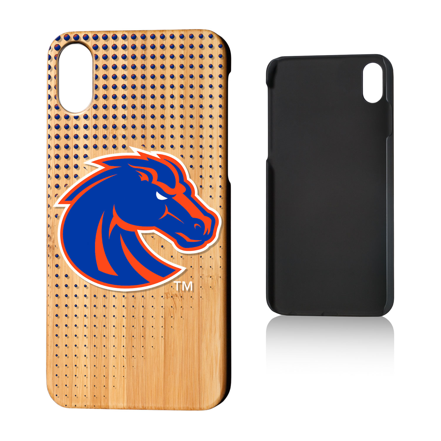 BSU Boise State Broncos Dots Bamboo Case for iPhone X