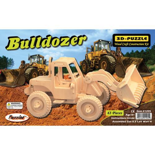 "3D Jigsaw Puzzle 63 Pieces 8.5""x4""x4""-Bulldozer"