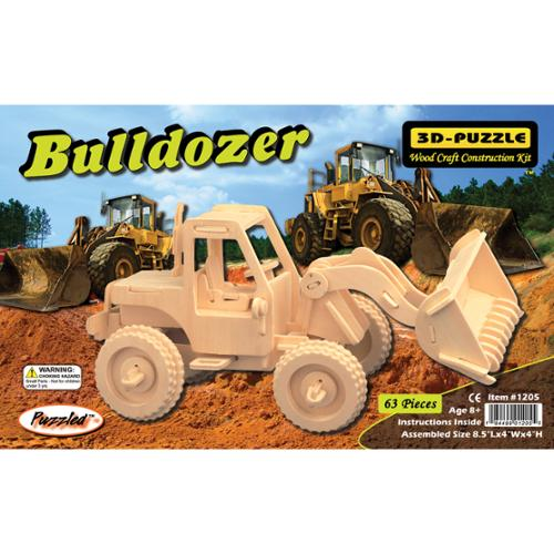"3D Jigsaw Puzzle 63 Pieces 8.5""x4""x4""-Bulldozer"