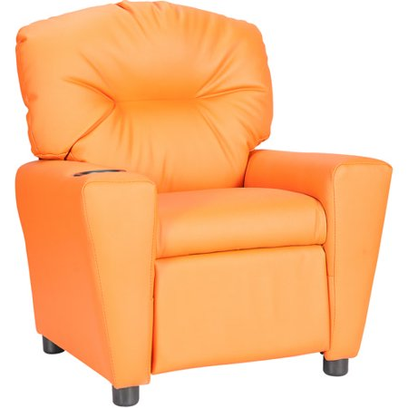 flash furniture kids 39 vinyl recliner with cup holder multiple colors