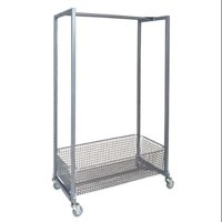 ZORO SELECT DRR-36 Mobile Hang Rail Rack,36x17x55